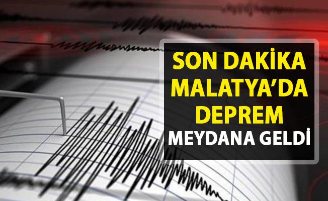 Son dakika deprem haberi!.. Malatya'da deprem meydana geldi! 25 Mart 2019