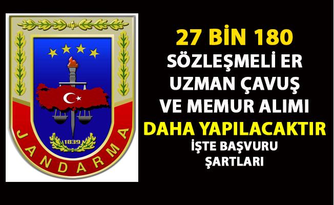Uzman er, Uzman çavuş ve memur alımı ilanı yayımlandı! Jandarma komutanlığı askeri personel alım ilanı