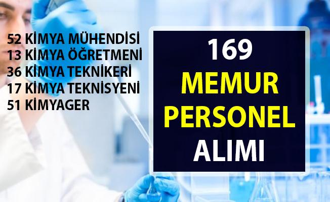 173 memur alımı iş ilanları! İŞKUR tarafından kimya bölümü - mühendisliği mezunu personel alımı yapılacaktır!..