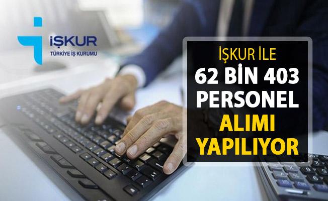 2019 Nisan Ayı İlanları İŞKUR'da Yayımlandı ! 62 Bin 403 Personel Alımı Yapılıyor