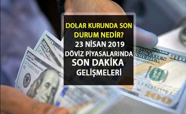 23 Nisan 2019 Dolar Kuru Ne Kadar? Dolar Son Durum Nasıl, Yükseliyor mu? Dolar Son Dakika Döviz Piyasaları
