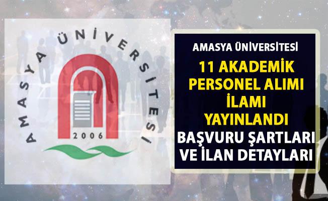 Amasya Üniversitesi akademik personel alımı ilanı yayınladı!..