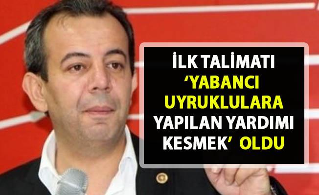 Bolu Belediye Başkanı Tanju Özcan, yabancı uyruklulara yapılan yardımı kesti