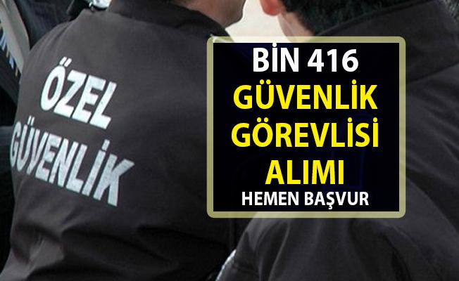 İŞKUR tarafından yeni iş ilanları yayınlandı! Bin 416 güvenlik personeli alımları yapılacaktır..