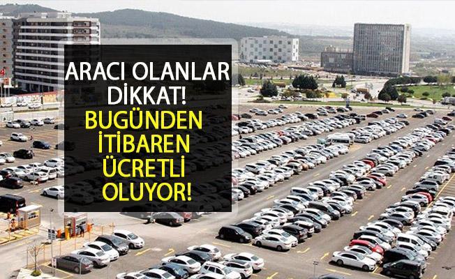 İstanbul Havalimanı'nın Ücretsiz Otopark Uygulaması Bugün İtibariyle Sona Erdi