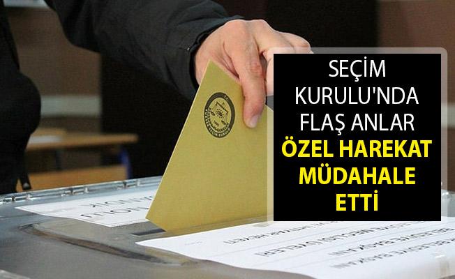 İstanbul Maltepe İlçe Seçim Kurulu'nda Flaş Anlar! Özel Harekat Duruma Müdahale Etti