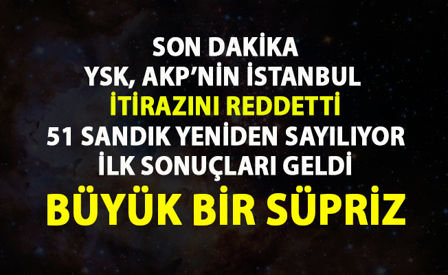 İstanbul son sayım seçim sonuçları!..