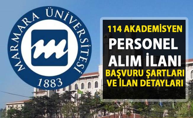 Marmara Üniversitesi Akademik Personel alımı ilanı! 114 öğretim üyesi alımı yapılacaktır