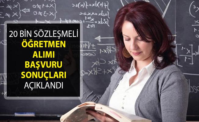 MEB 20 Bin Sözleşmeli Öğretmen Alımı Başvuru Sonuçları Açıklandı- Sözleşmeli Öğretmen Alımı Mülakat Yerleri Açıklandı