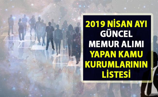 Memur alımı yapan güncel kamu kurumların listesi