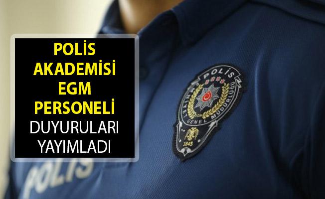 Polis Akademisi Başkanlığı EGM Personeli Duyuruları Yayımladı! POMEM PMYO
