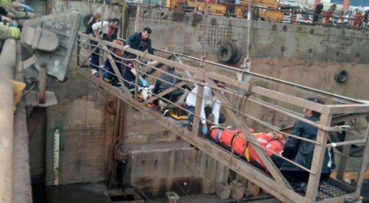 Son Dakika... Tuzla'da Bir Tersanede İskele Çöktü! Yaralılar Var