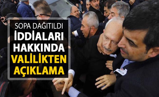 Sopa Dağıtıldığı İddiaları Hakkında Ankara Valiliğinden Açıklama
