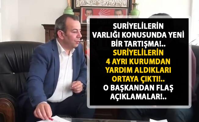 Suriyelilere yapılan yardımlar! Bolu Belediye Başkanı Tanju Özcan'dan flaş suriyeliler yorumu!..