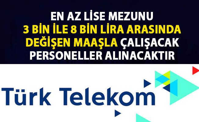 Türk Telekom iş ilanı! İŞKUR Personel alımı iş ilanları!..