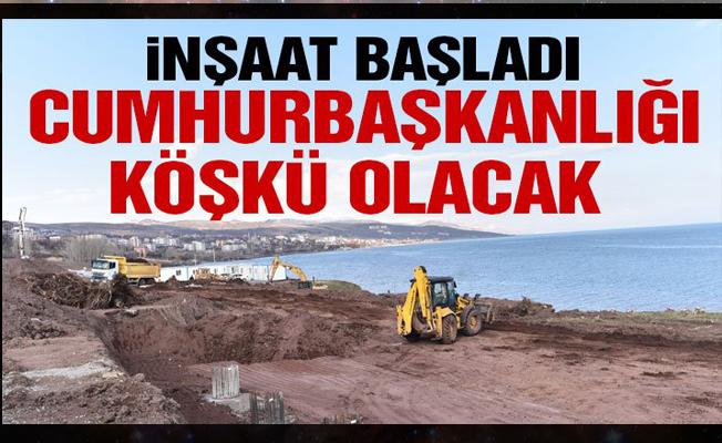 Van Gölü sahiline Cumhurbaşkanlığı Köşkü yapımı inşaat çalışmaları başladı!