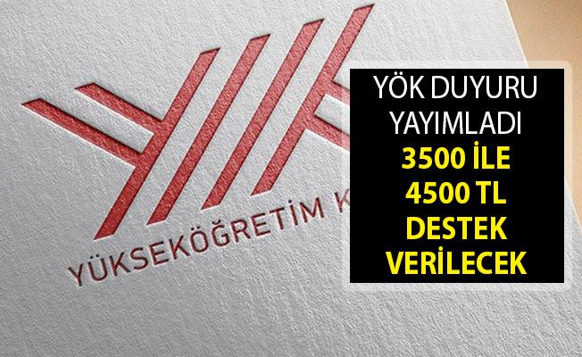 YÖK'den Duyuru Yayımlandı- 3500 İle 4500 TL Destek Verilecek- YÖK YUDAB Başvuru Kılavuzu