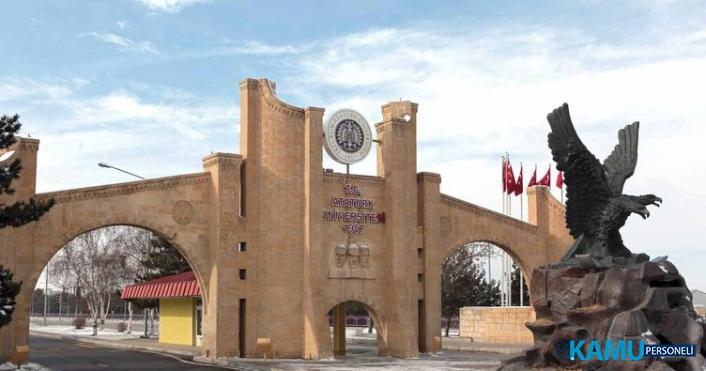 Atatürk Üniversitesi akademik personel alım ilanı! 84 öğretim üyesi personel alımı yapılacaktır!