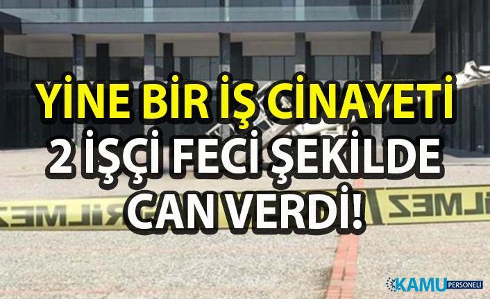 Bursa'da bir otelde dış cephe cam temizliği yapan iki işçi feci şekilde can verdi!