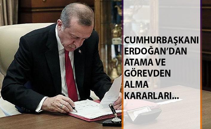Cumhurbaşkanı Erdoğan'dan Atamalar ve Görevden Alma Kararları!
