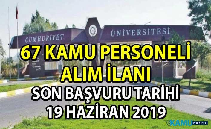 DPB tarafından yeni personel alımı ilanı yayınlandı! Sivas Cumhuriyet Üniversitesi'ne 67 akademik memur alımı yapılacaktır