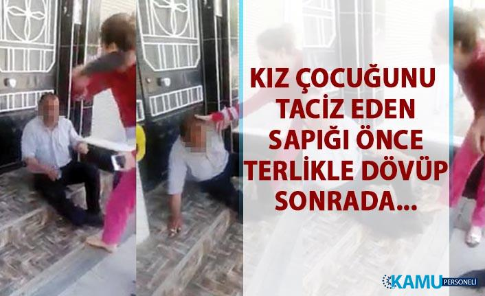 Gaziantep'te kız çocuğunu taciz eden sapık, yakalanıp polise teslim edildi