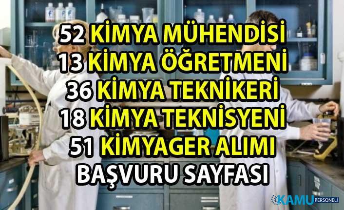 Güncel personel alım ilanları! İŞKUR, 174 Kimya bölümü mezunu personel alımı yapacaktır!