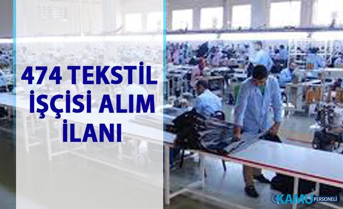 İŞKUR'dan tekstil iş ilanları! 474 Tekstil daimi işçi alımı