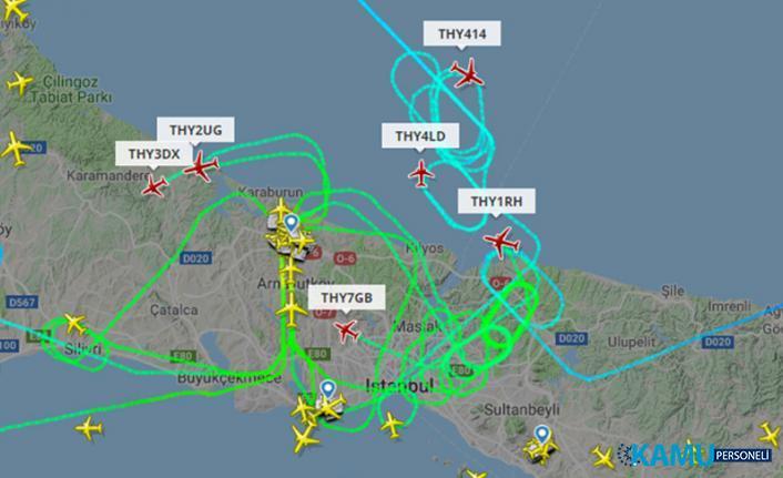 İstanbul Havalimanı'na Rüzgar Engeli! Havalimanı'na İnemeyen Uçaklar Havada Tur Attı