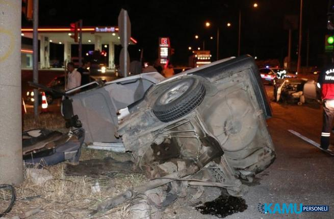 Manisa'da korkunç kaza, otomobil ikiye ayrıldı! Yaralılar var...
