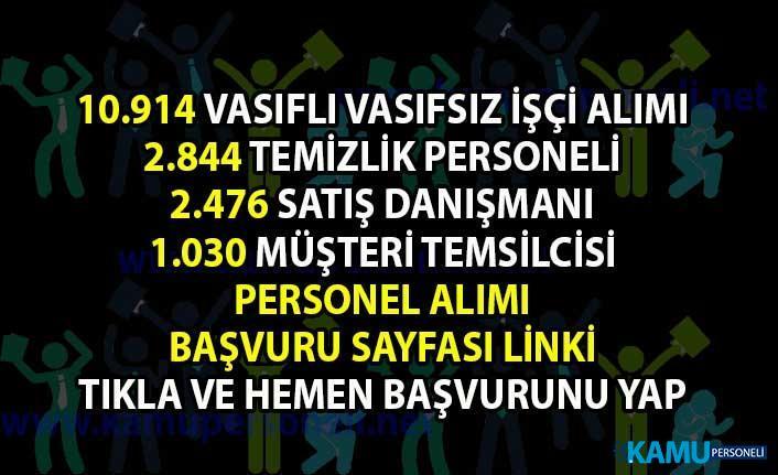 Memur-Personel alımı iş ilanı! İŞKUR'dan Vasıflı Vasıfsız işçi, Temizlik personeli ve satış temsilcisi alım ilanları