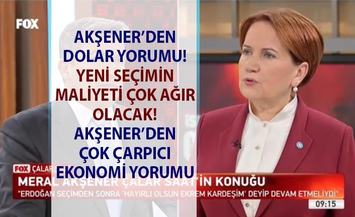 Meral Akşener FOX Haber'de konuştu! Akşener'den çok çarpıcı ekonomi yorumu!