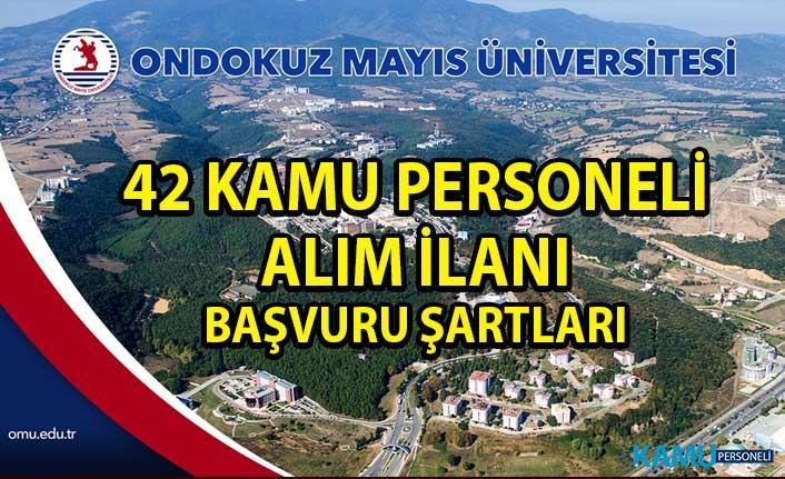 Samsun 19 Mayıs Üniversitesi Kamu Personeli Alım İlanı! 42 Akademik Personel alımı yapılacaktır