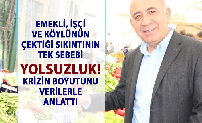 Türkiye'de ekonomi krizin boyutu! CHP'li Gürsel tekin krizin boyutunu verilerle anlattı