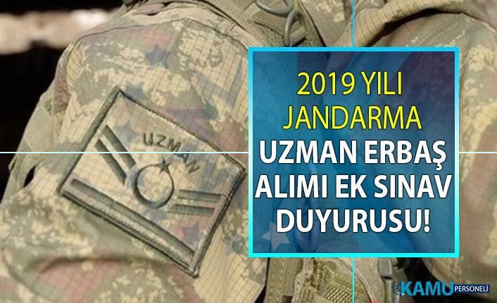 2019 yılı Jandarma sözleşmeli uzman erbaş alımı ile ilgili ek sınav yapılacağı duyuruldu! Hangi adaylar ek sınava girebilecek?