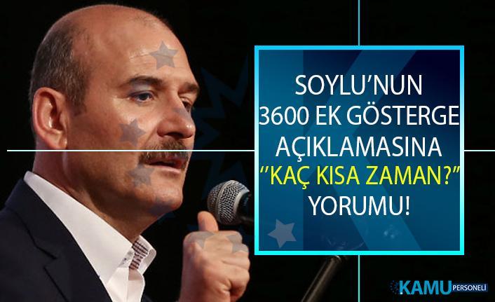 3600 Ek gösterge ne zaman meclise gelecek? Bakan Soylu'dan son dakika 3600 ek gösterge açıklaması!