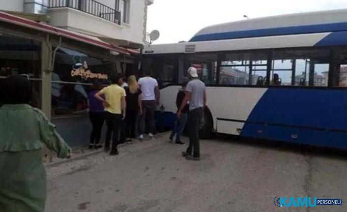 Ankara EGO Otobüsü Kafeye Daldı! 3 Kişi Yaralandı
