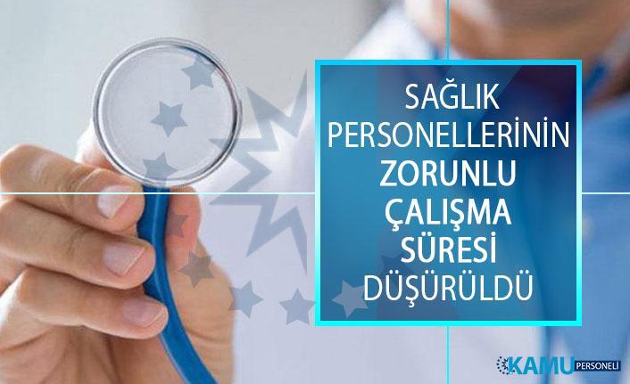 Bakan Koca Açıkladı! Sağlık Personellerinin Zorunlu Çalışma Süresi Düşürüldü