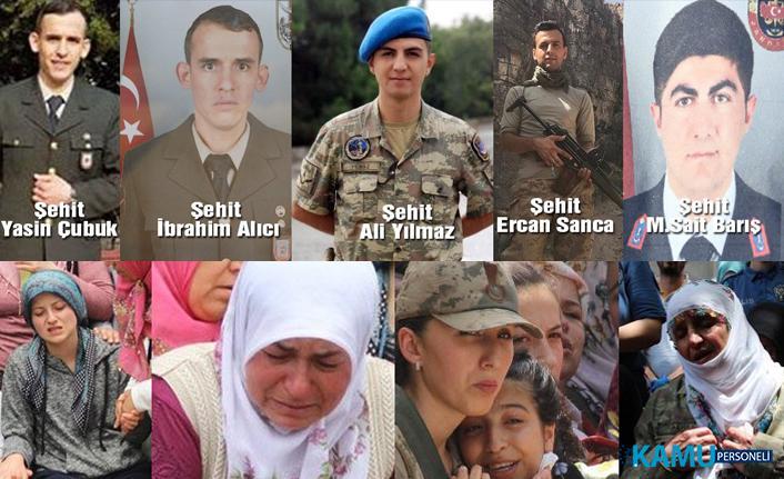 Dün Şehit Olan 5 Askerimiz 5 Farklı ilde Sonsuzluğa Uğurlanıyor!..