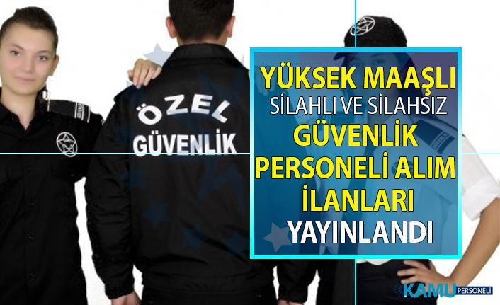 İŞKUR tarafından yüksek maaşlı güvenlik görevlisi personeli alım ilanları yayınlandı!