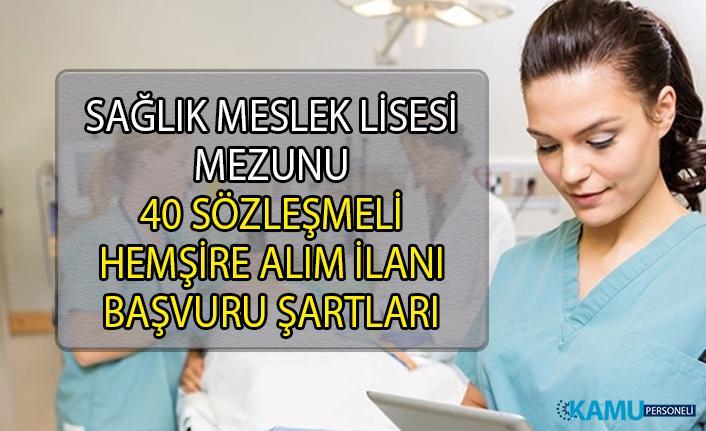 İstanbul Cerrahpaşa Üniversitesi Lise Mezunu 40 sözleşmeli hemşire personel alımı ilanı yayınladı!