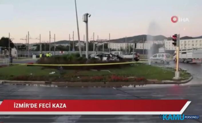 Izmir In Balcova Ilcesinde Olumlu Trafik Kazasi 2 Kisi