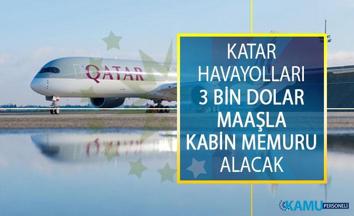 Katar Havayolları 3 Bin Dolar Maaşla Kabin Memuru Alacak! Kabin Görevlisi Alımı Başvuru Şartları Nelerdir?