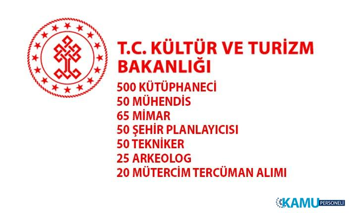 Kültür ve Turizm Bakanlığı tarafından 760 sözleşmeli memur alımı yapılacaktır!
