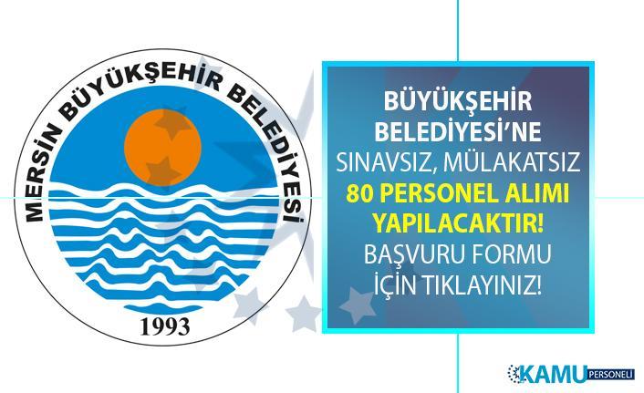Mersin Büyükşehir Belediyesi geçici 80 Plaj görevlisi personeli alımı yapıyor!