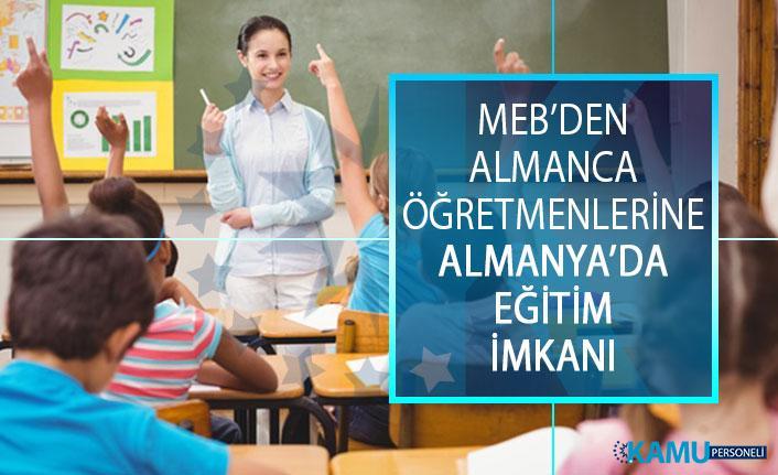 Milli Eğitim Bakanlığından (MEB) Almanca Öğretmenlerine, Almanya'da Eğitim İmkanı