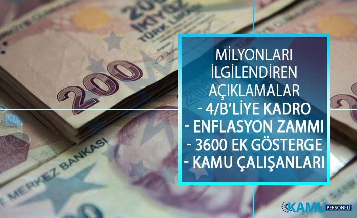 Toplu Sözleşme Görüşmesi Hakkında Kamu Çalışanlarına Enflasyon Zammı, 3600 Ek Gösterge ve Kadro Açıklaması!