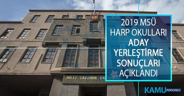 2019 Milli Savunma Üniversitesi (MSÜ) Harp Okulları Aday Yerleştirme İşlemleri Sonuçları Açıklandı!