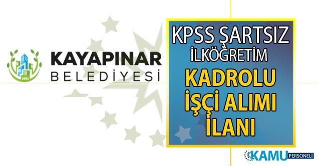 27 Temmuz belediye iş ilanları! Diyarbakır Kayapınar Belediyesi en az ilköğretim mezunu kadrolu 4 personel alımı başvuru ilanı