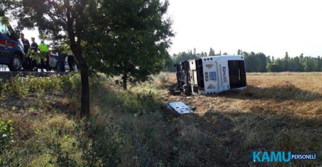 Afyonkarahisar- Konya karayolu Çay ilçesinde yolcu otobüsü kazası! Çok sayıda yaralı var